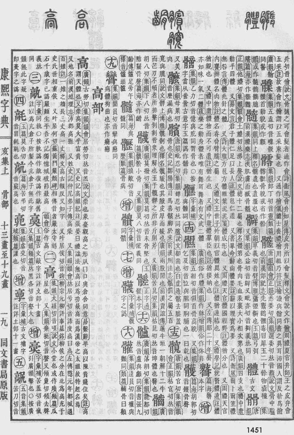 《康熙字典》第1451页