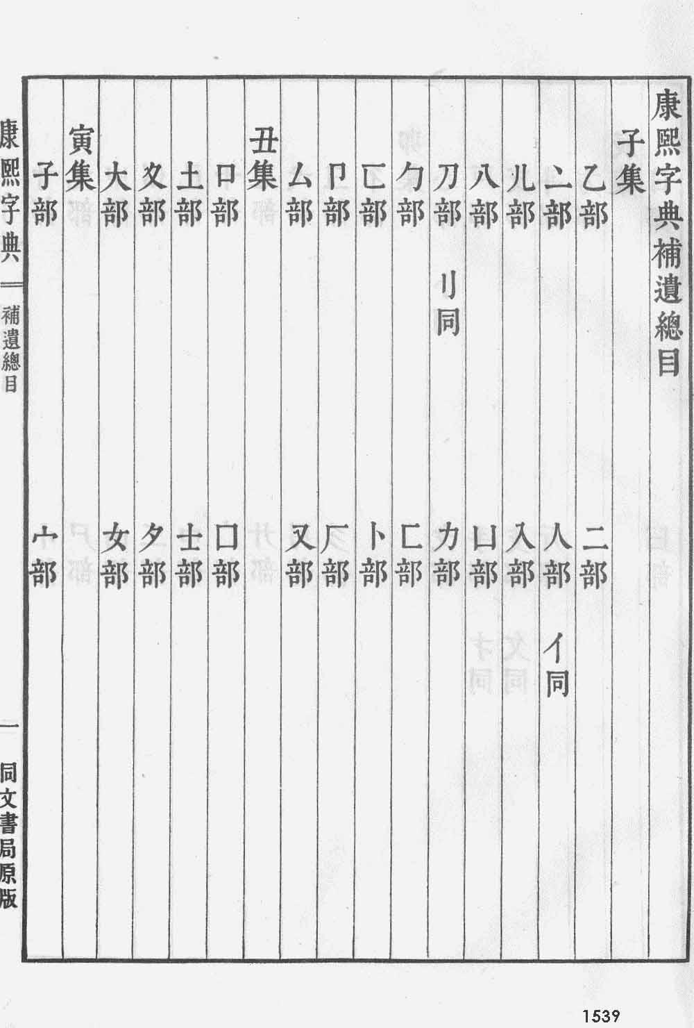 《康熙字典》第1539页