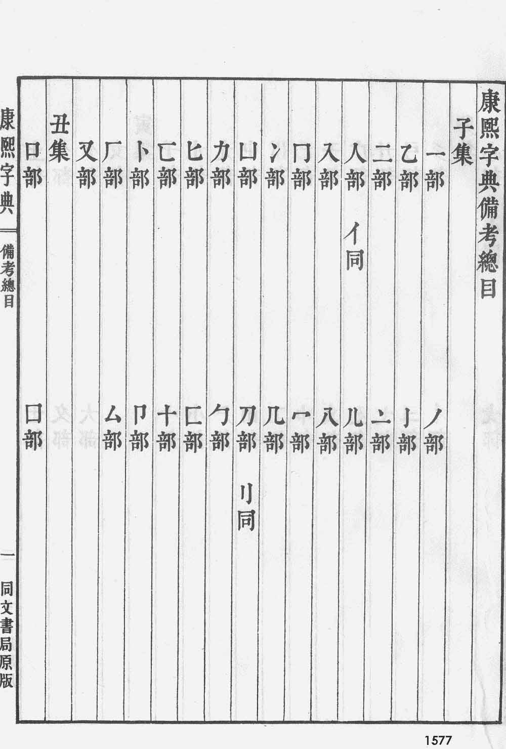 《康熙字典》第1577页