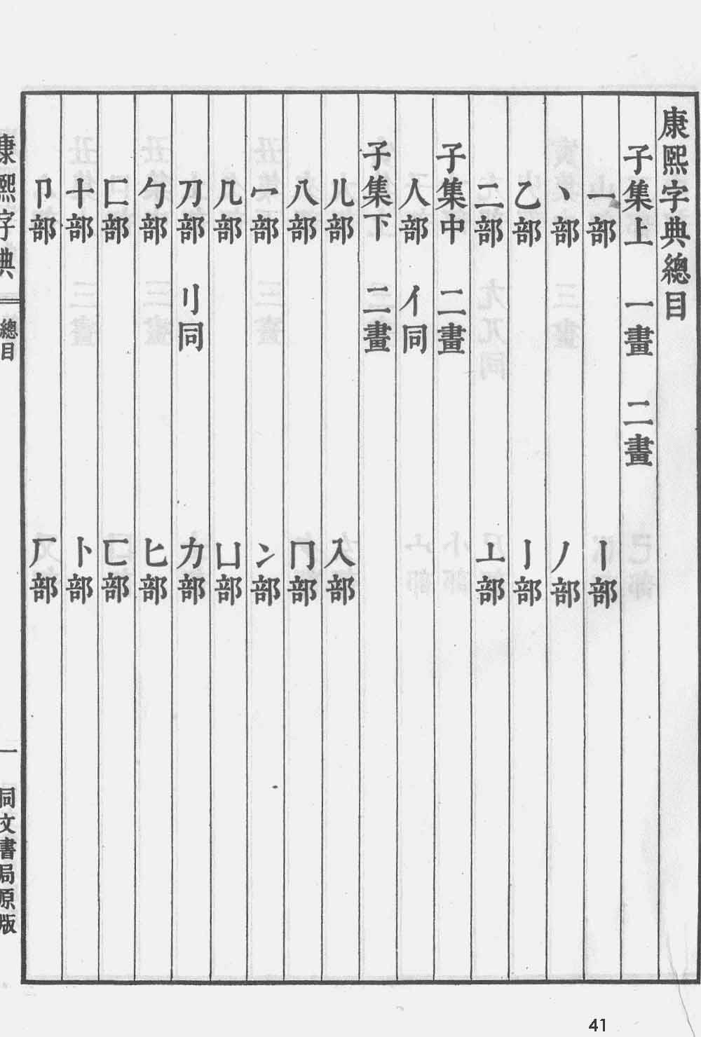 《康熙字典》第41页