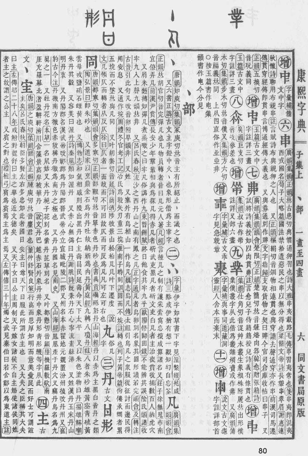 《康熙字典》第80页