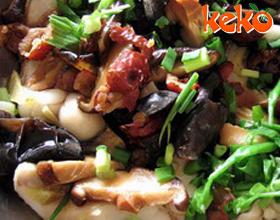 荸荠炒冬菇