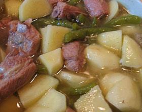 四季豆焖肉排