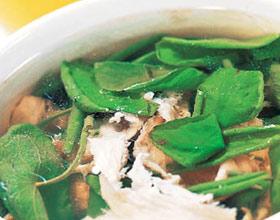 莼菜玻璃鸡片汤
