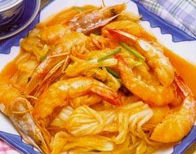 白菜软炒虾