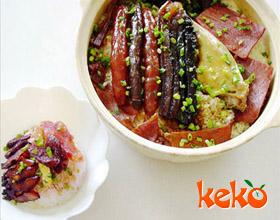 腊肉小米饭