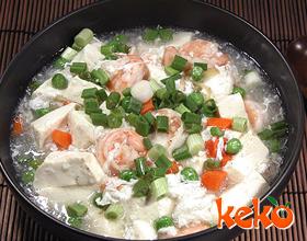 炖明虾豆腐