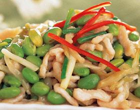 咸菜肉丝毛豆