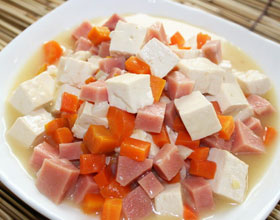 烧火腿豆腐