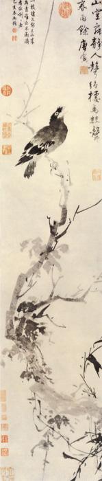枯槎鹧鸪图 唐寅