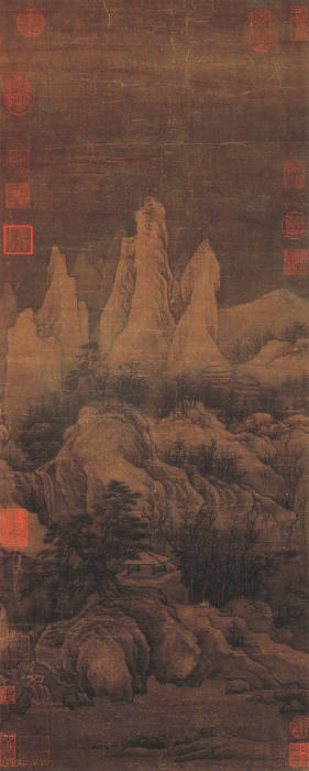 群峰雪霁图 李成