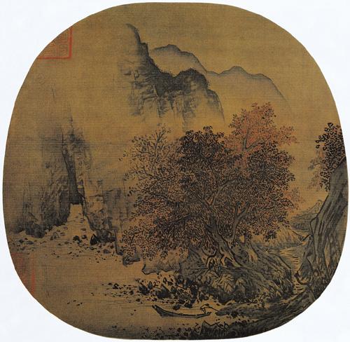 秋山红树图 萧照