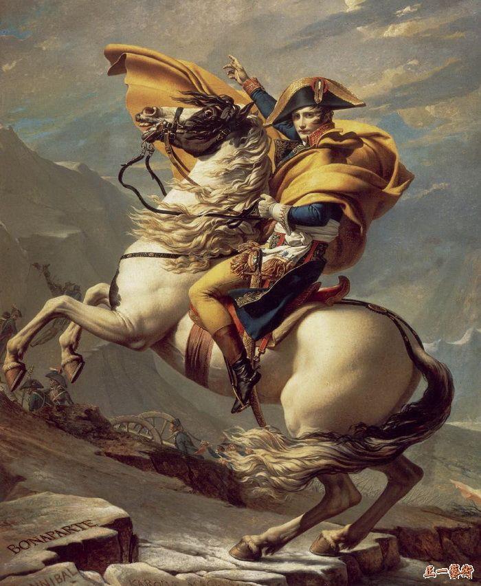 拿破仑越过圣贝尔纳山 达维德