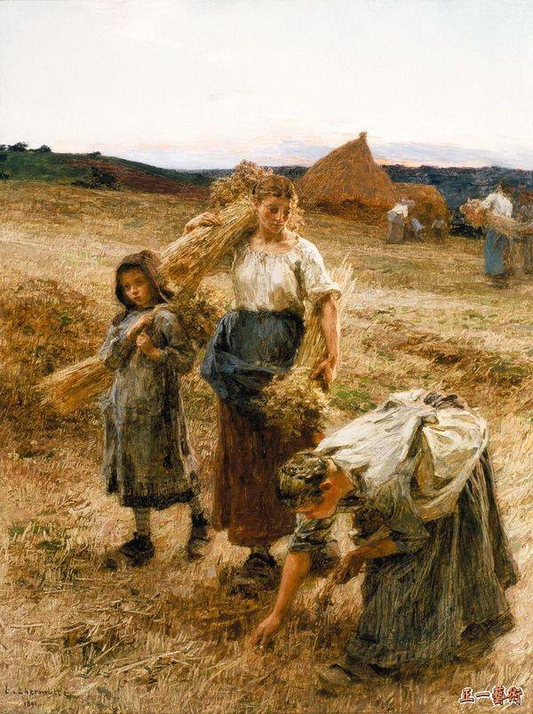 拾麦穗的女人 莱尔米特