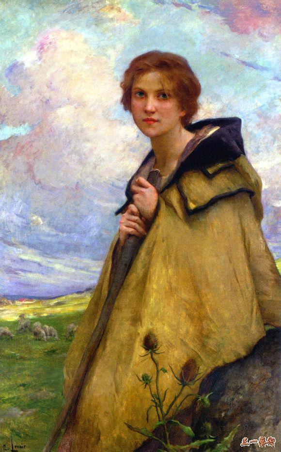 牧羊女 勒努瓦
