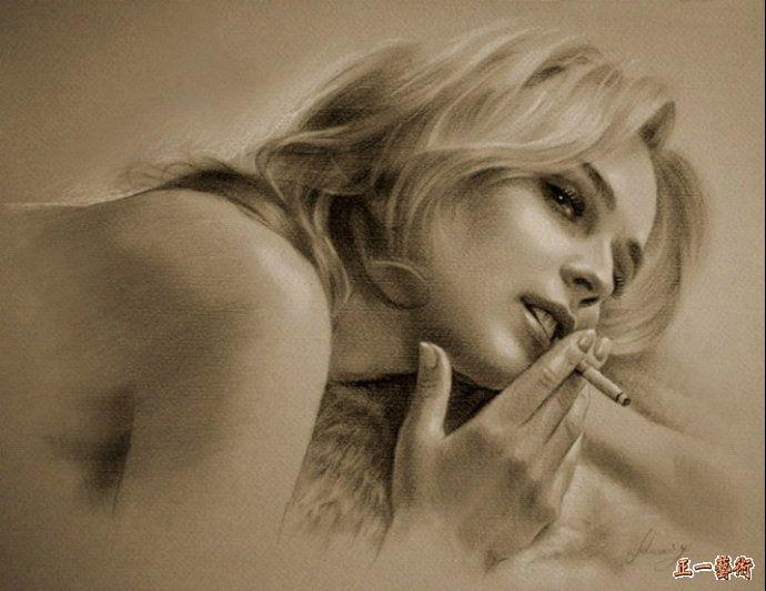 吸烟女孩 卢卡斯威兹