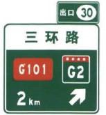 右侧出口预告标志