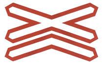 叉形符号标志
