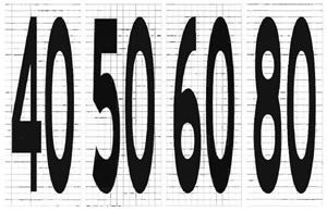 路面限速标记字符