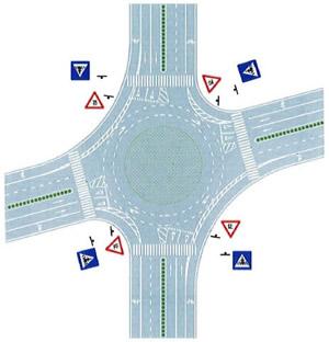 平面环形交叉口导流线设置示例