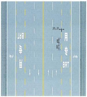 公交专用车道线