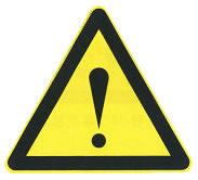 注意危险标志