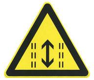 注意潮汐车道标志