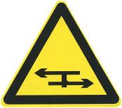 丁字平面交叉标志