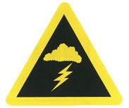注意不利气象条件标志